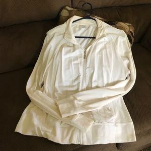 Danskin Now White Zip WorkOut Jacket